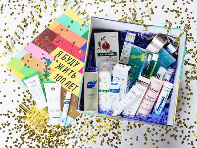 Подарочный набор на Новый год с 13 косметическими средствами от ведущих брендов от «Доктор Столетов»