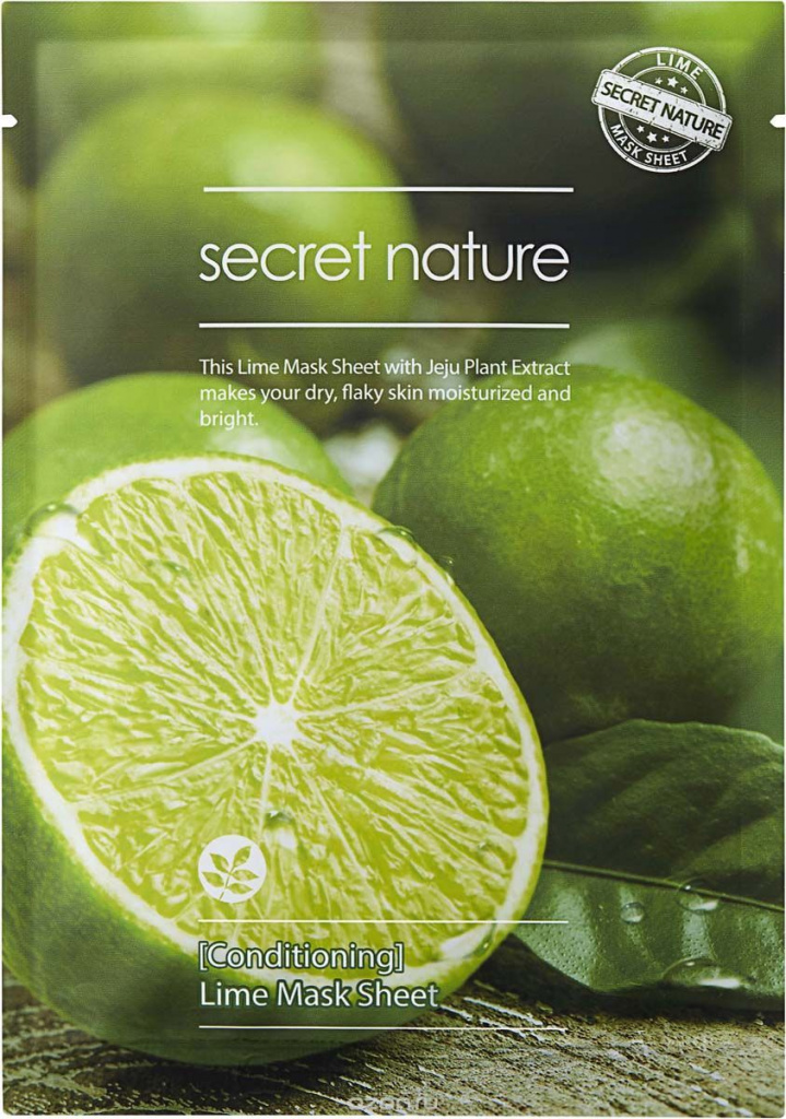 Conditioning Lime Mask Sheet, Secret Nature