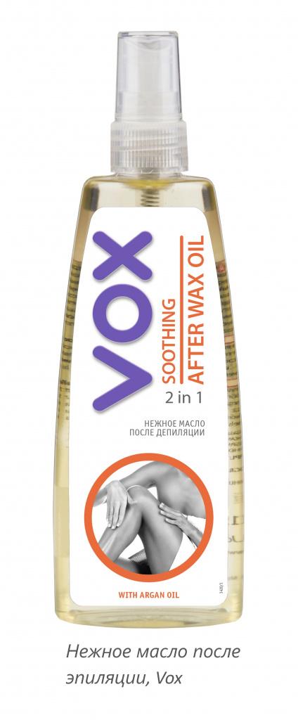 Нежное масло после эпиляции, Vox