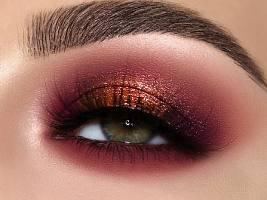 Бордо или мерло: как сделать модный макияж глаз в винных оттенках